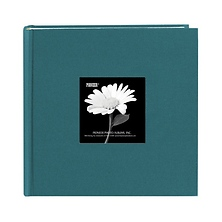 4 x 6 Natural Colors Fabric Teal Photo Album Image 0