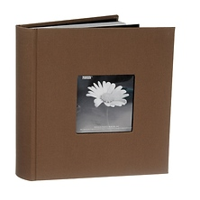 4 x 6 Natural Colors Fabric Mocha Photo Album Image 0