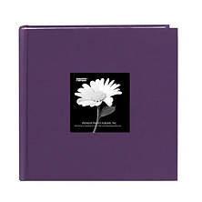 4 x 6 Natural Colors Fabric Purple Photo Album Image 0