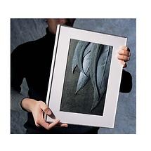 Framatic 8 x 12 Fineline Black Aluminum Frame