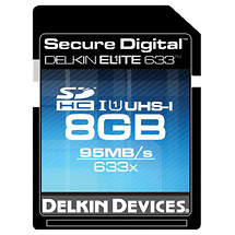 Delkin Devices 8GB Elite 633x UHS-I Secure Digital High Capacity Memory Card