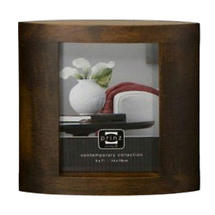 Prinz 5 x 7 Ellipse Basswood Walnut Wood Frame