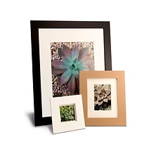 Metro 16 x 20 Seamless Composite Wood Board Frame Matted for 11 x 14 (Black) Image 0