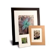 Framatic Metro 16 x 20 Seamless Composite Wood Board Frame Matted for 11 x 14 (Black)