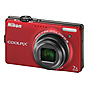 Nikon Coolpix S6000 Digital Camera (Red) - Manufacturer Reconditioned