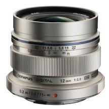 Olympus M. Zuiko Digital ED 12mm f/2.0 Lens (Silver)