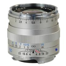 Zeiss 50mm f/2.0 Planar T* ZM MF Lens for Zeiss Ikon & Leica M Cameras (Silver)