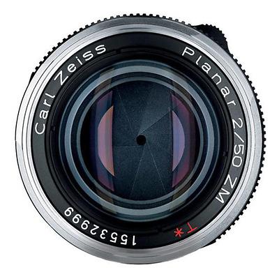 Zeiss 50mm f/2 0 Planar T* ZM MF Lens for (Leica M-Mount) - Black