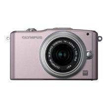 Olympus E-PM1 Pen Mini Digital Camera (Pink) with 14-42mm Lens