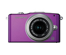 Olympus | E-PM1 Pen Mini Digital Camera (Purple) with 14-42mm Lens | V206011VU000