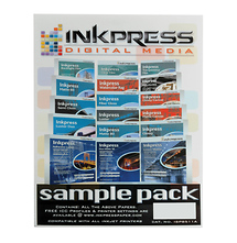 Inkpress 8.5 x 11in. Sampler Pack Paper (18 Sheets)