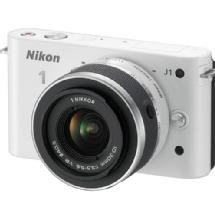 Nikon 1 J1 Mirrorless Digital Camera with 10-30mm VR Lens (White)
