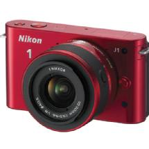 Nikon 1 J1 Mirrorless Digital Camera with 10-30mm VR Lens (Red)