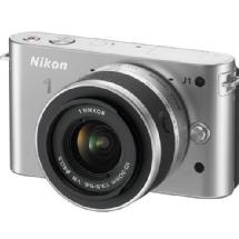 Nikon 1 J1 Mirrorless Digital Camera with 10-30mm VR Lens (Silver)