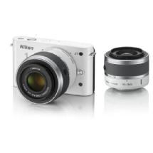 Nikon 1 J1 Mirrorless Digital Camera with 30-110mm & 10-30mm VR Lens (White)