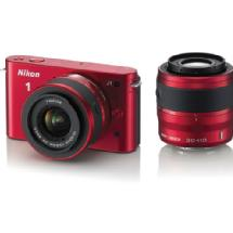 Nikon 1 J1 Mirrorless Digital Camera with 30-110mm & 10-30mm VR Lens (Red)