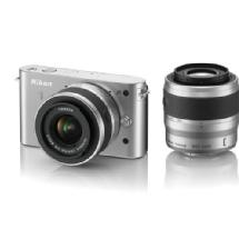 Nikon 1 J1 Mirrorless Digital Camera with 30-110mm & 10-30mm VR Lens (Silver)