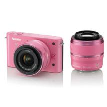 Nikon 1 J1 Mirrorless Digital Camera with 30-110mm & 10-30mm VR Lens (Pink)