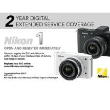 Nikon 2 Year Extended Service Coverage for 1 J1 & 1 V1 Cameras