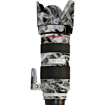 Lens Skins Lens Vinyl Wrap for Canon 70-200mm f/2.8L IS (Black & White Smoke)