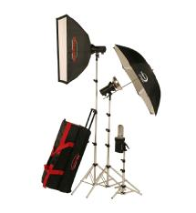 Photogenic AKC850K StudioMax 800W/S Portrait Studio 3 Light Soft Box Kit
