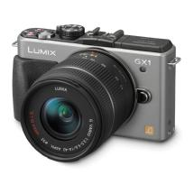 Panasonic LUMIX DMC-GX1 Digital Camera with 14-42mm G Vario Lens (Silver)