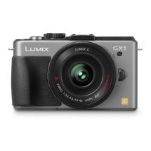 Panasonic Lumix DMC-GX1 Digital Camera with 14-42mm G X Vario PZ Lens (Silver)