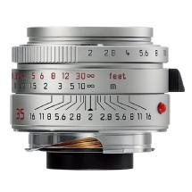 Leica 35mm f/2.0 Summicron M Aspherical Manual Focus Wide Angle Lens (Silver)