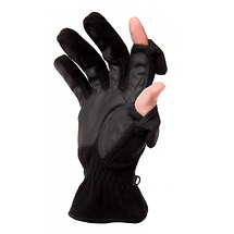 Freehands Men's Fleece Gloves - Black, Large