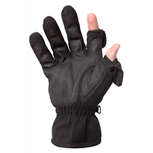 Men's Stretch Gloves - Black, Large Image 0