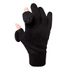 Freehands Ladies Raggwool Gloves - Black, Small/Medium