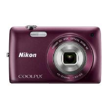Nikon Coolpix S4300 Digital Camera (Plum)