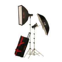 Photogenic AKC640RK 645W/s Mobile Studio 2 Light Soft Box Kit with Radio