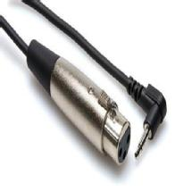 Hosa Technology Microphone Cable, XLR3F to Right-angle 3.5 mm TRS, 5 ft