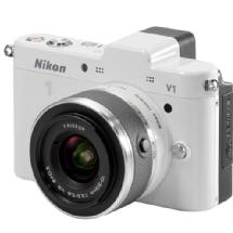 Nikon 1 V1 Mirrorless Digital Camera with 10-30mm VR Lens (White)