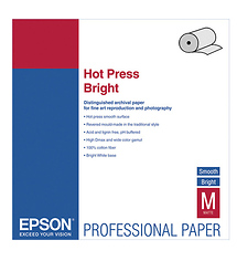 Epson Hot Press Bright Archival Inkjet Paper (17in. x 50' Roll)