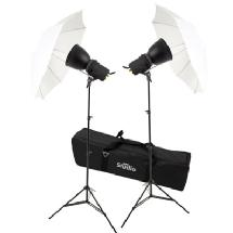 RPS Studio Photoflood Umbrella 1000 Watt Photography Lighting Kit