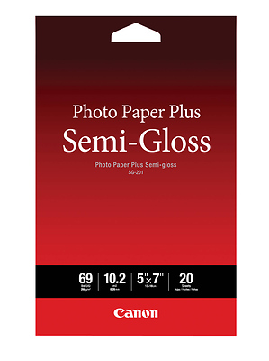 Photo Paper Plus Semi-Gloss Inkjet Paper 5 x 7in (20 Sheets) Image 0