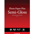 Photo Paper Plus Semi-Gloss Inkjet Paper 5 x 7in (20 Sheets)