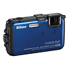 Nikon Coolpix AW100 Waterproof Digital Camera (Blue) - Manufacturer Reconditioned