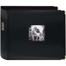 12 x 12 Black Sewn Leatherette 3-Ring Binder Image 0