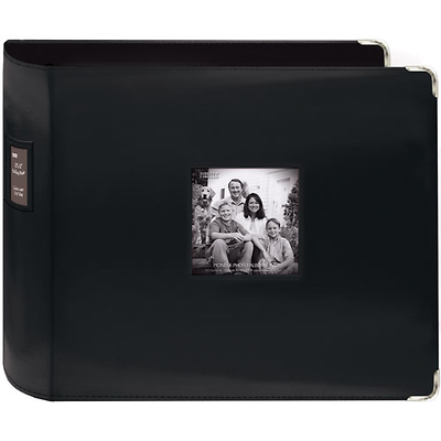 Pioneer 12 X 12 Black Sewn Leatherette 3 Ring Binder T12jf