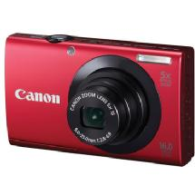 Canon PowerShot A3400 IS Digital Camera (Red)
