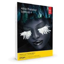 Adobe Photoshop Lightroom 4 Software for Mac & Windows (Student & Teacher Edition)