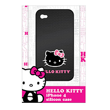 Hello Kitty Gel Case for Apple iPhone 4 Black