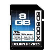 Delkin Devices 8GB SD 600X UHS-I Memory Card