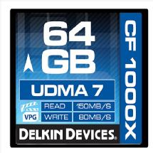 Delkin Devices Delkin Devices 64GB CF 1000X UDMA 7 Memory Card