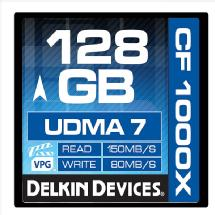 Delkin Devices 128GB CF 1000X UDMA 7 Memory Card