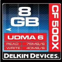 Delkin Devices 8GB CF 500X UDMA Memory Card