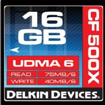 Delkin Devices 16GB CF 500X UDMA Memory Card